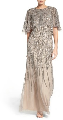 Women's Adrianna Papell Beaded Mesh Gown $369 thestylecure.com
