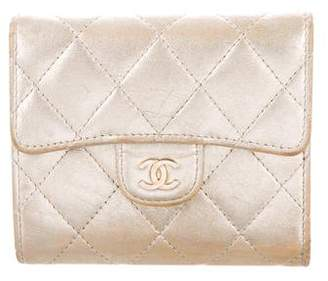 Chanel Quilted Metallic Compact Wallet