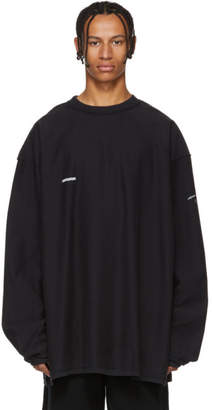 Vetements Black Inside-Out Shark Sweatshirt