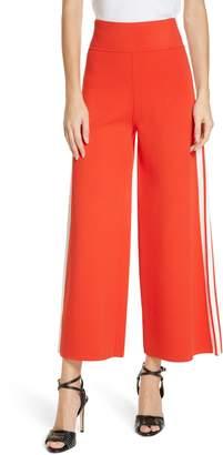 Veronica Beard Roland Side Stripe Wide Leg Pants