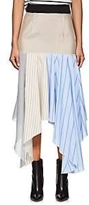 J.W.Anderson Women's Hanky Striped Cotton & Silk Skirt - Blue, Cream