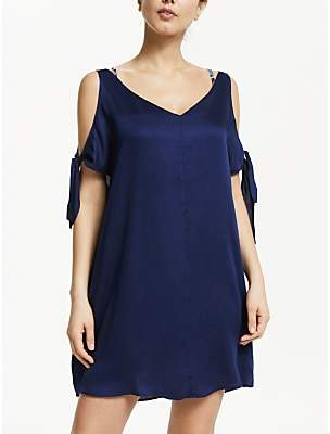 John Lewis & Partners Lux Bunny Tie Beach Cover Up, Navy