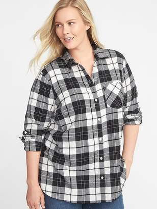 Old Navy Classic Plaid No-Peek Plus-Size Twill Shirt