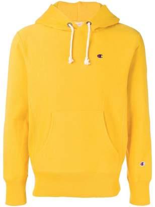 Champion contrast logo hoodie
