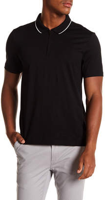 Perry Ellis Zip Front Polo Shirt