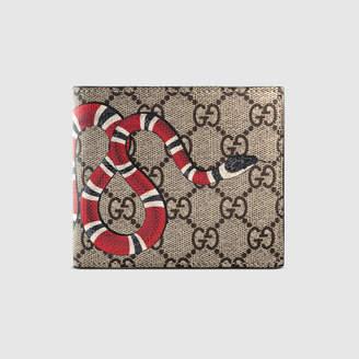 Gucci Kingsnake print GG Supreme coin wallet