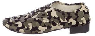 Repetto Leather Camouflage Loafers