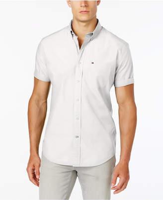 Tommy Hilfiger Men Maxwell Short-Sleeve Button-Down Classic Fit Shirt