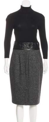Paule Ka Virgin Wool Turtleneck Dress