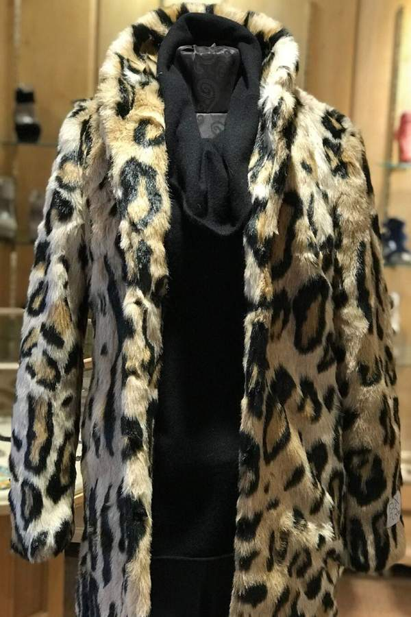 Rino Pelle Leopard Print Coat