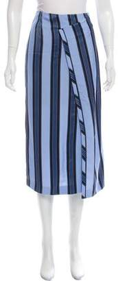 Acne Studios Striped Knee-Length Skirt