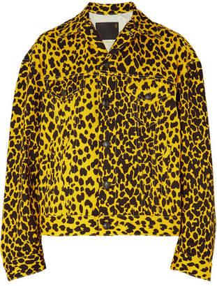 R 13 Reed Oversized Leopard-print Denim Jacket