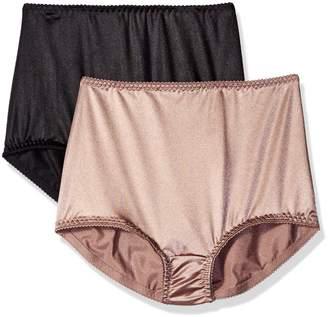 Vassarette Women's Undershapers 2-Pack Light Control Brief 40201
