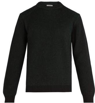 Lanvin Ribbed Knit Crew Neck Sweater - Mens - Green