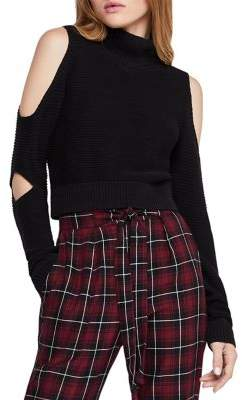 BCBGeneration Cold-Shoulder Cropped Sweater
