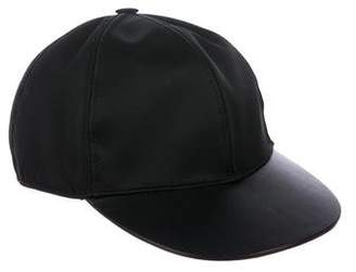 Valentino Leather-Trimmed Hat