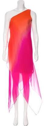 Oscar de la Renta Ombré Asymmetrical Dress