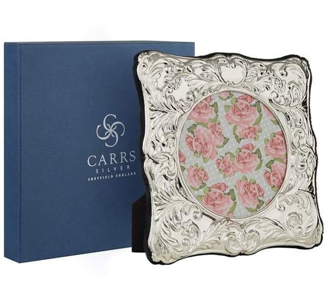 Carrs Silver Velvet Trimmed Sterling Silver Picture Frame