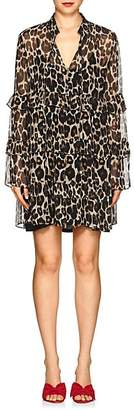 Robert Rodriguez Women's Leopard Silk Chiffon Shift Dress - Neut. pat.