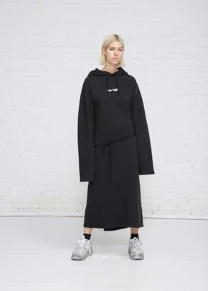 Vetements Hoodie Wrap Dress