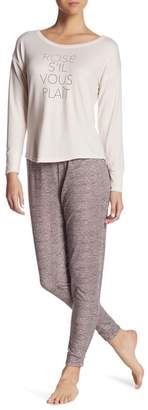 Danskin Brushed Hacci 2-Piece Pajama Set