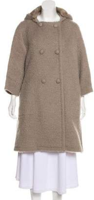 Louis Vuitton Mink-Lined Wool Long Coat wool Mink-Lined Wool Long Coat