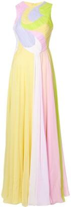 Emilio Pucci colour block long gown