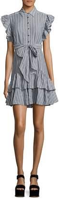 Rebecca Taylor Women's Yarn-Dyed Striped Dress