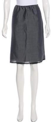 Prada Mohair A-Line Skirt