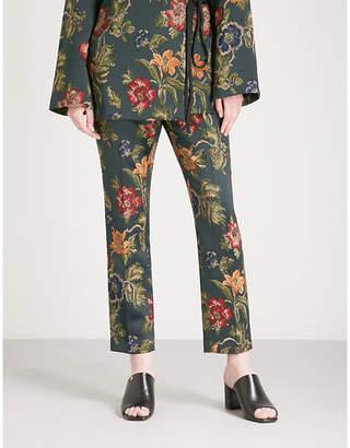 Rosetta Getty Floral jacquard trousers