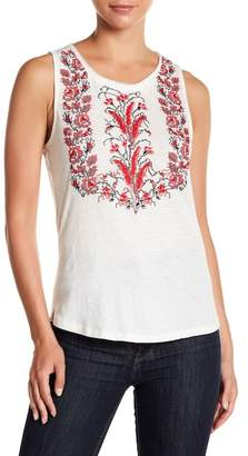 Lucky Brand Cross Stitch Embroidered Tank