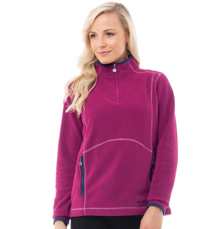 Womens Christie 1/4 Zip Microfleece Raspberry Red