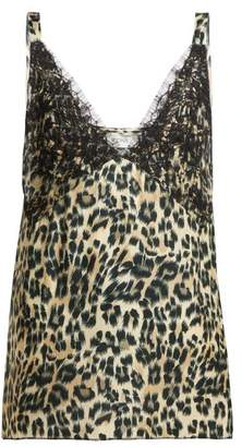 Icons Orchid Leopard Print Silk Camisole - Womens - Leopard