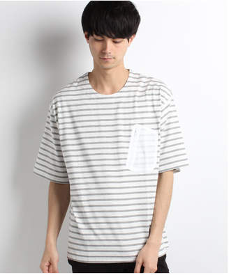 Ability MR.EVERYDAYS BORDER BIG POCKET T‐SHIRTS