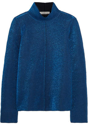 Golden Goose Diana Metallic Knitted Top - Blue