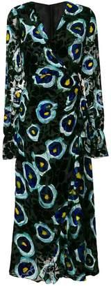 Talbot Runhof フローラル ドレス