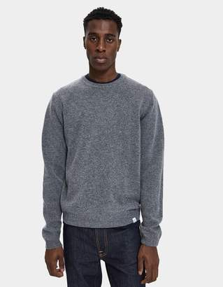 Norse Projects Sigfred Lambswool Sweater in Light Grey Melange