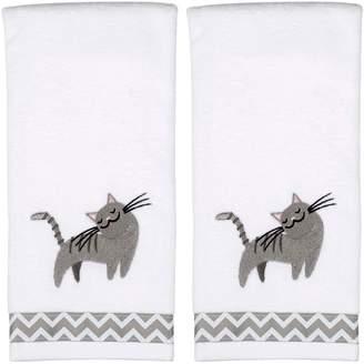 Saturday Knight Ltd. Saturday Knight, Ltd. Cat 2-pack Hand Towels