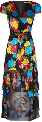 Alice + Olivia Erika Floral Midi Dress