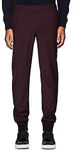 Paul Smith Men's Wool Jogger Trousers-Wine