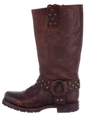 Frye Studded Stirrup Boots