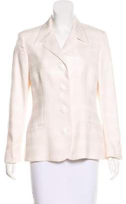Gianni Versace Fitted Silk Jacket