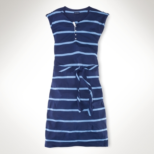 Rugby-Striped Maxi Dress