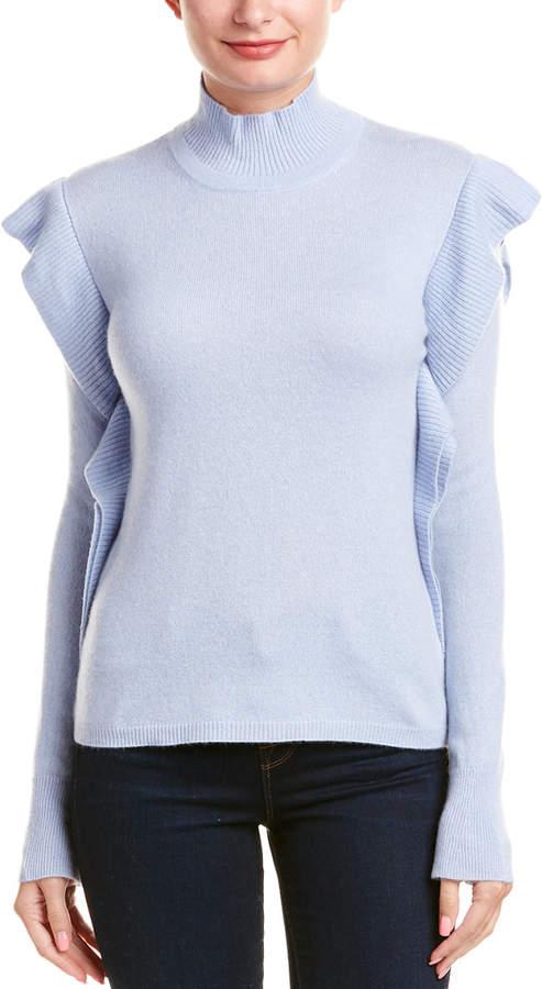 Lockhart Cashmere Ruffle Cashmere Sweater