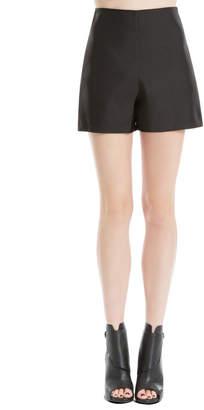 Max Studio heavy satin tap shorts