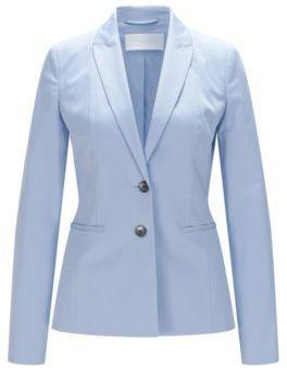 Hugo Boss Jelany Tailored Cotton Blazer 0 Turquoise $545 thestylecure.com