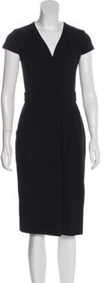 Max Mara Pleated Midi Dress Black Pleated Midi Dress