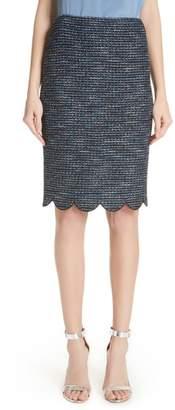 St. John Twinkle Texture Knit Skirt