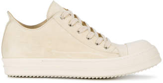 Rick Owens Ivory low leather sneakers