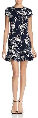 Aqua Ruffle-Hem Floral Print Dress - 100% Exclusive